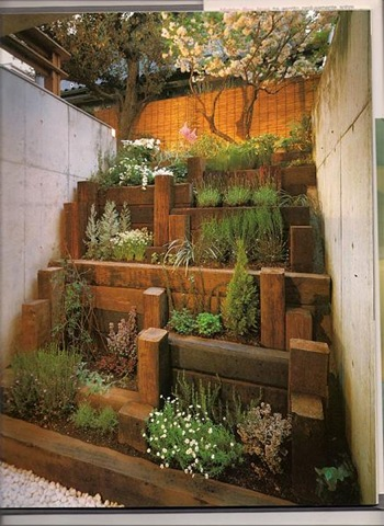 Jardineras en escala jardindecora flores y plantas - Jardineras para terrazas ...