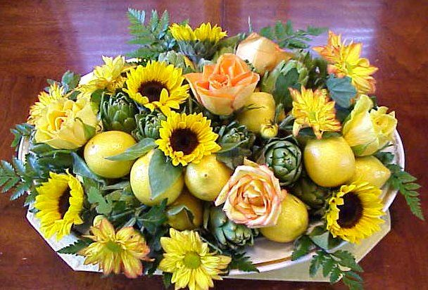 Frutas y flores centro de mesa para un d a especial for Centros de frutas