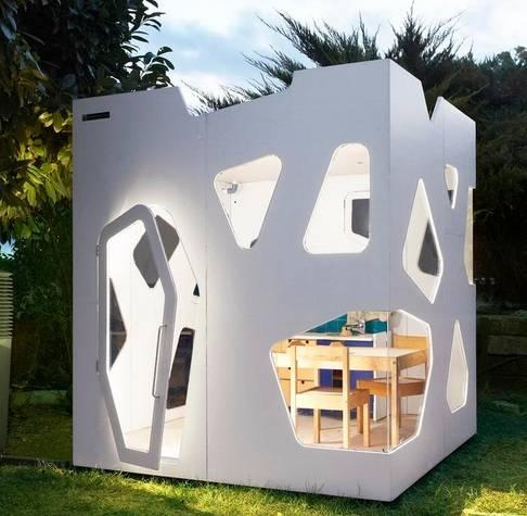 Casita para ni os de estilo futurista fundaci ilersis for Casitas para jardin de segunda mano