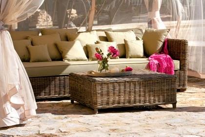 Rattan para los muebles de terraza  Fundación Ilersis