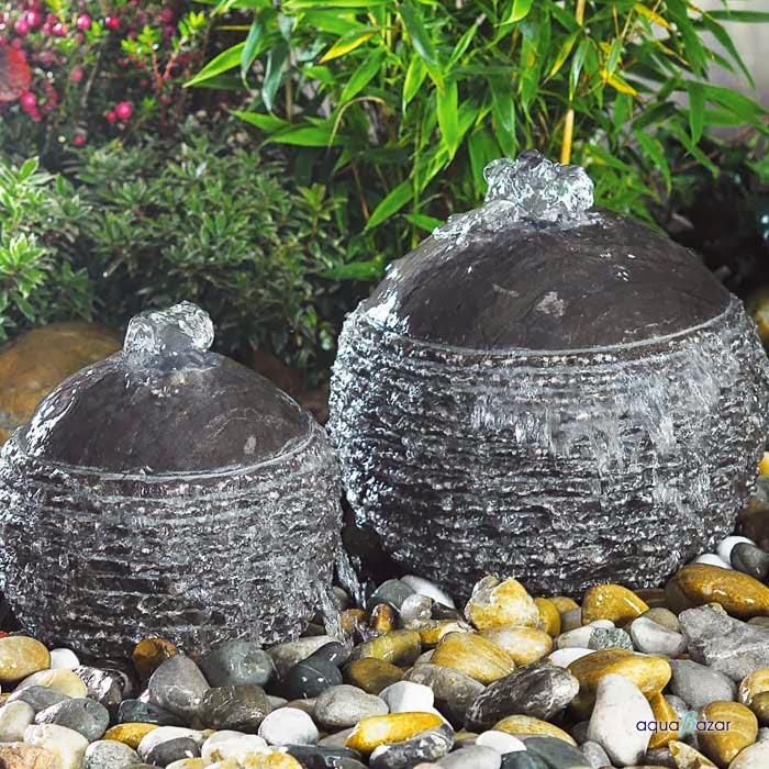 Punto focal fuentes decorativas jardindecora flores y for Piedras de jardin decorativas
