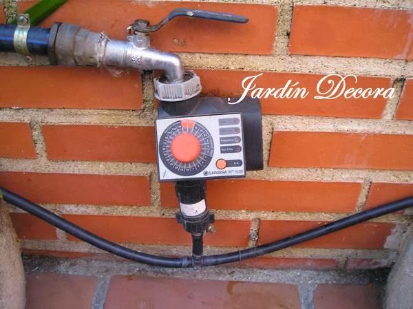 Instalar un riego por goteo en el jard n jardindecora - Programador para riego por goteo ...