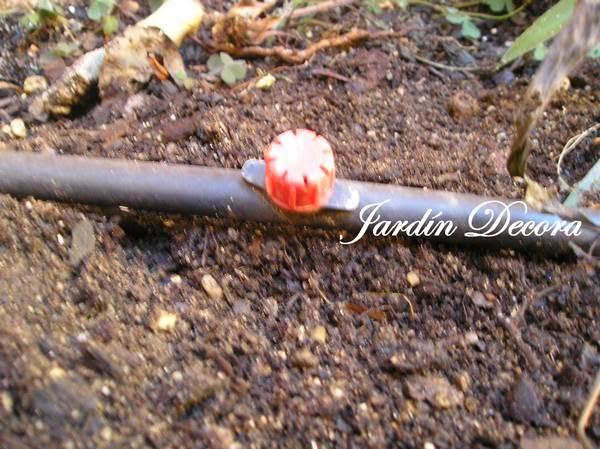 Instalar un riego por goteo en el jard n fundaci ilersis - Tubo riego por goteo ...