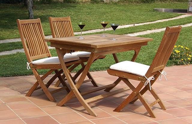 Muebles para exterior en madera fundaci ilersis for Muebles de teka para jardin