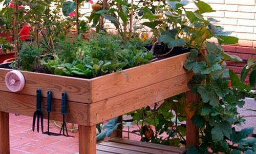 Mesa de cultivo para el huerto urbano fundaci ilersis - Mesa para huerto urbano ...