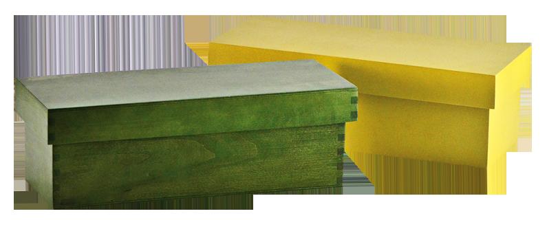 Cajas de colores con tapa fundaci ilersis for Caja madera con tapa
