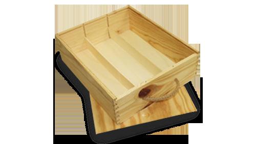 Cajas madera botellas - Productos ILERSIS