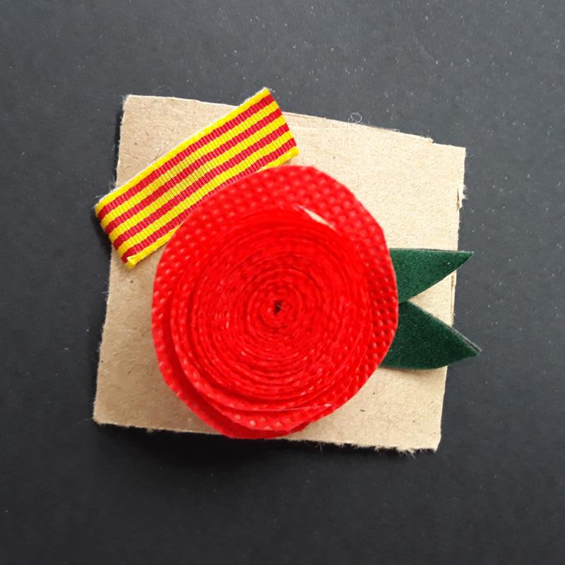 Fermall amb rosa de Sant Jordi 2018, Ilersis Fundació Privada
