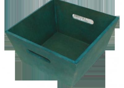 Cubeta pequeña azul - Cajas de madera ILERSIS