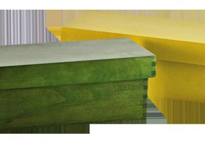 Cajas de colores con tapa