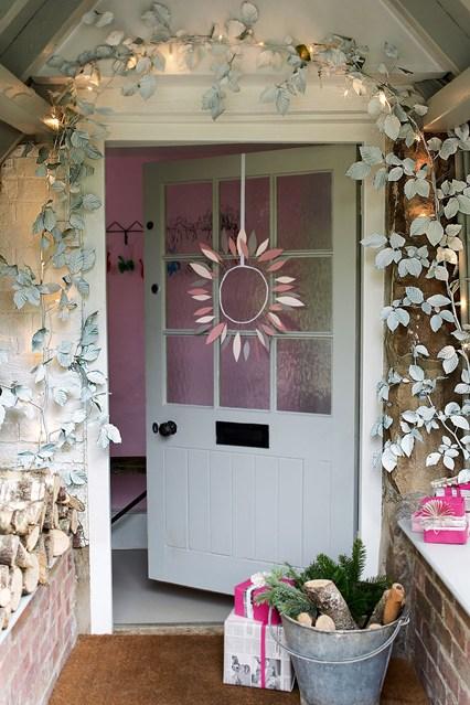 decorar el jardín en navidad, entrada