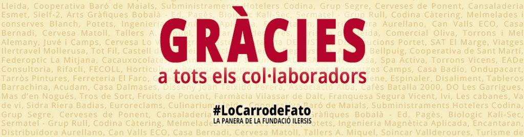 Gràcies a tots els col·laboradors de Lo Carro de Fato, la panera de la Fundació Ilersis