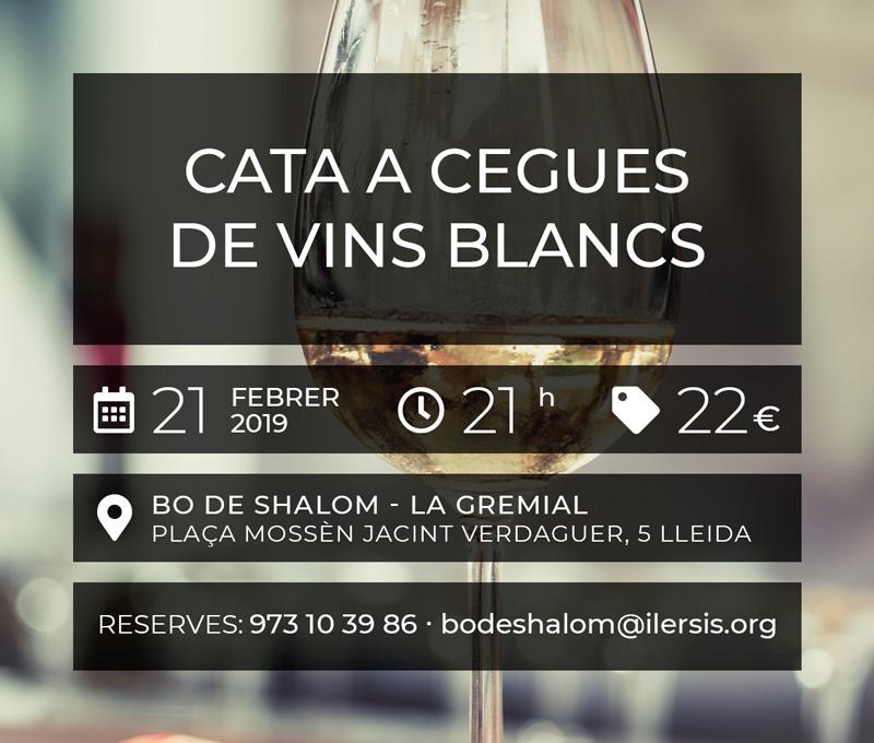 Cata a cegues de vins blancs