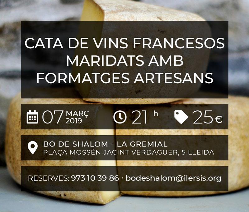 Cata de vins francesos maridats amb formatges artesans