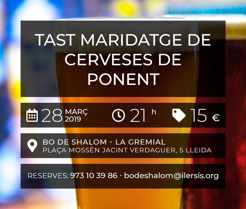 Tast maridatge de Cerveses de Ponent