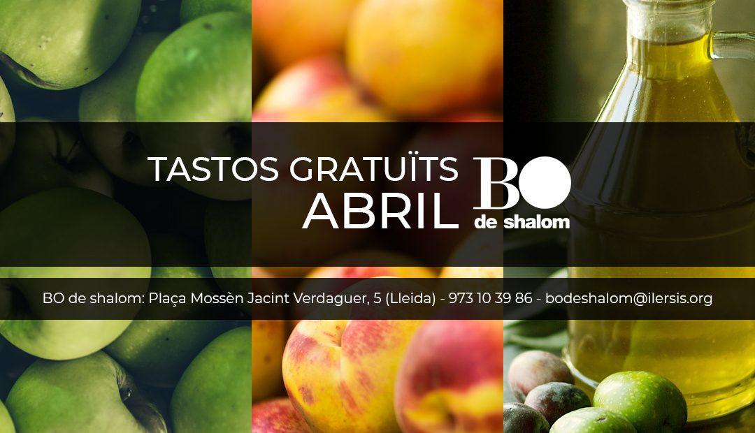 Tastos gratuïts i guiats de BO de Shalom – Abril 2019