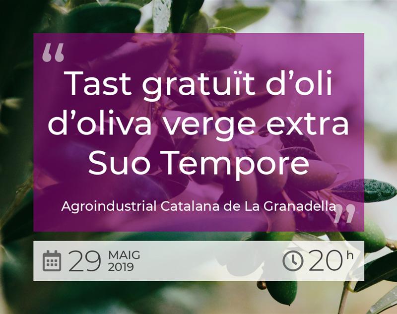 Tast gratuït d'oli d'oliva verge extra Suo Tempore - 29 Maig 2019 - BO de shalom